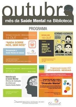"""""""Saúde Mental em destaque na Biblioteca Municipal de Faro"""""""