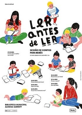 """""""Ler antes de Ler: sessão de contos para bebés"""""""