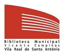 Logótipo da Biblioteca Municipal Vicente Campinas -  Vila Real de Santo António